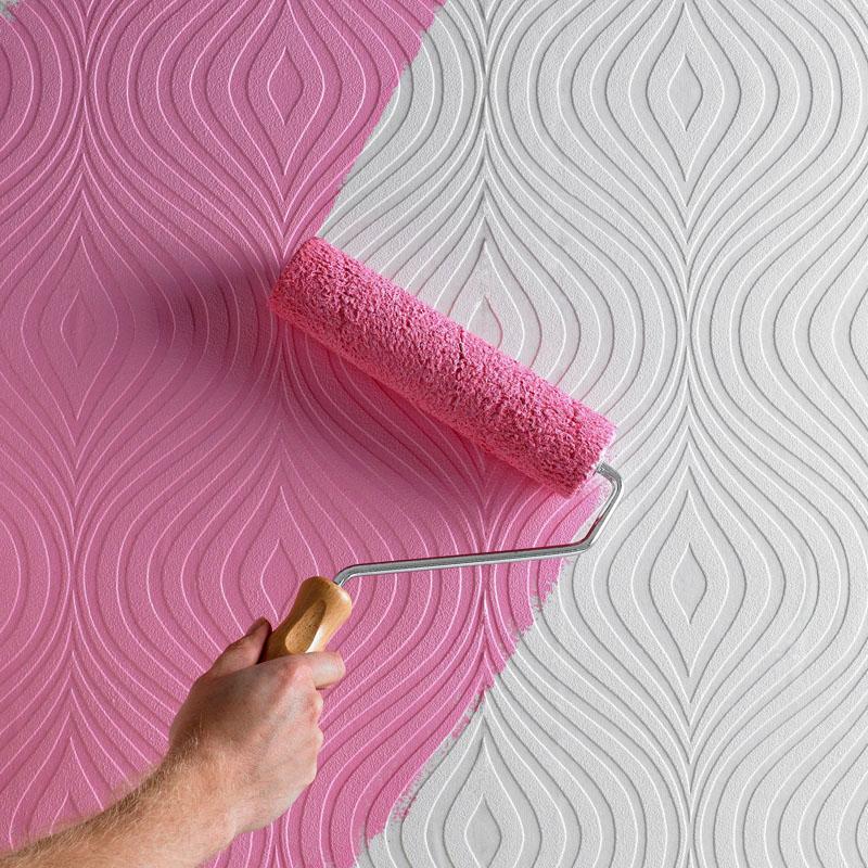 Обои под покраску позволят изменить цвет стен в любое время
