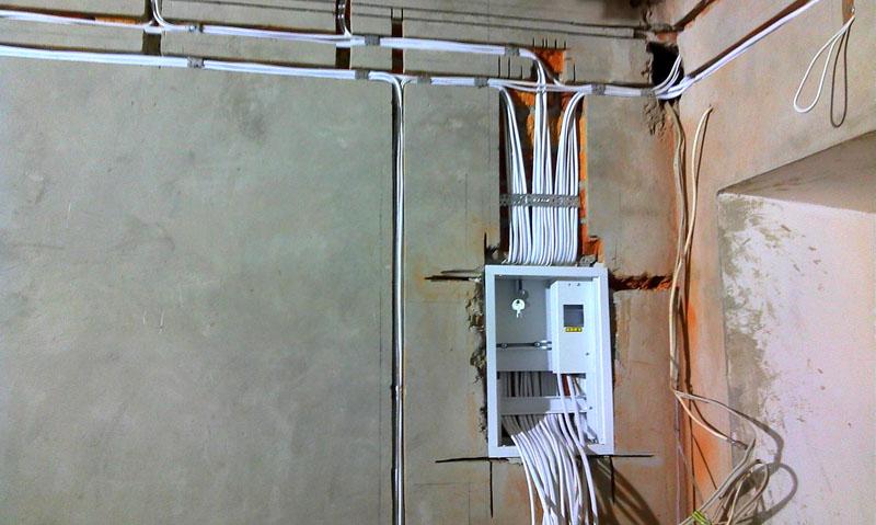 Монтаж электропроводки к щитку