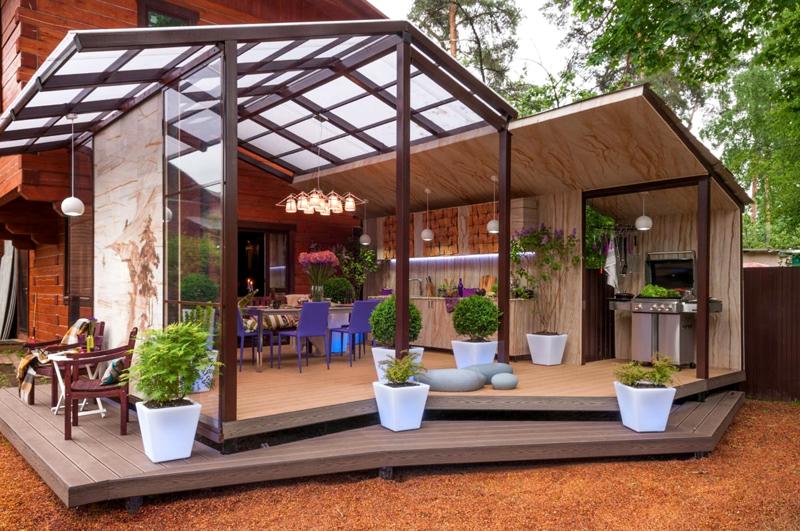 Просто, быстро, красиво − терраса или веранда к дому, фото лучших проектов