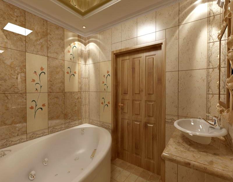 Ванная, оформленная в классическом стиле