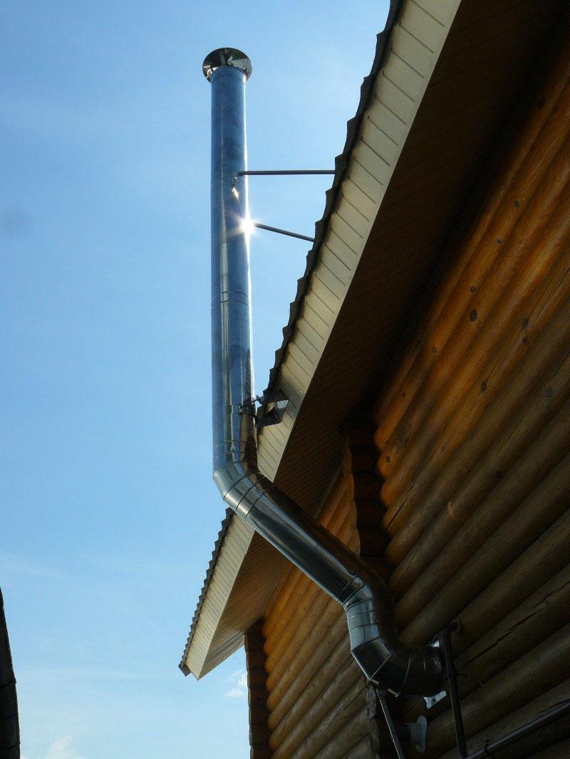 Коаксиальный дымоход – вертикальная конструкция