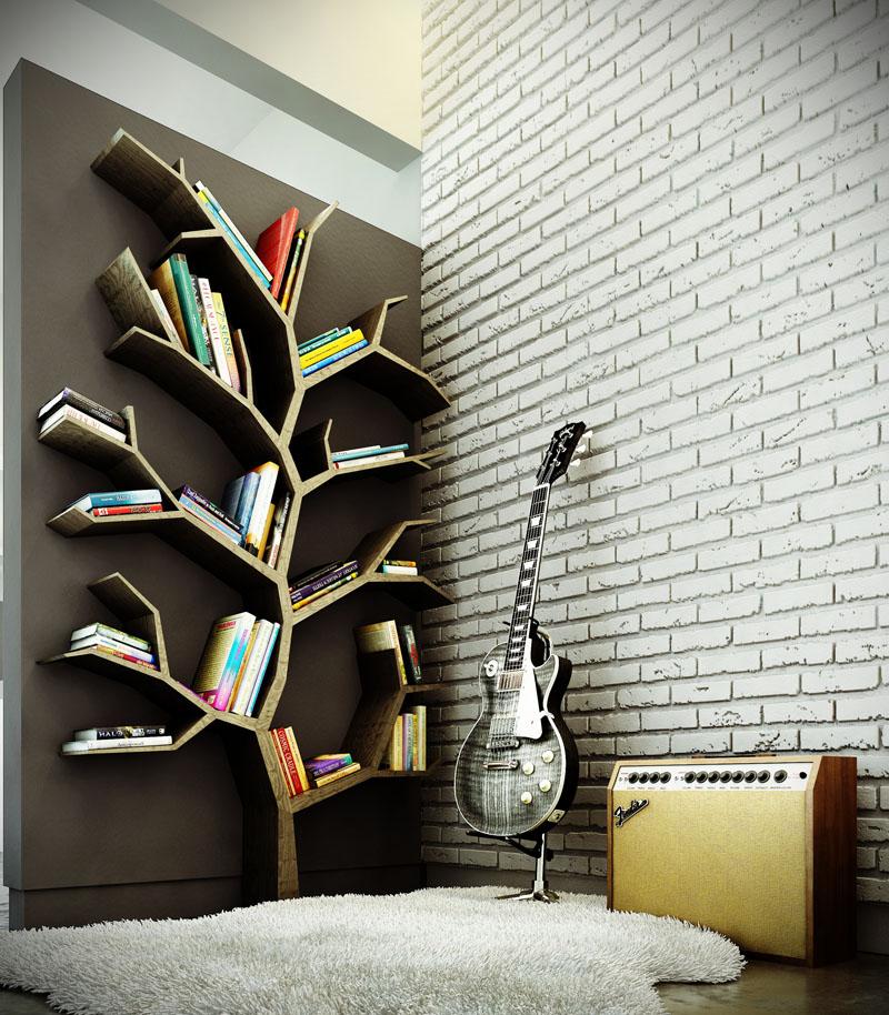 Дизайнерская полочка в виде кроны дерева