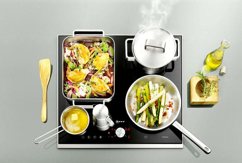 Во время приготовления не выделяются продукты горения, как в газовой поверхности
