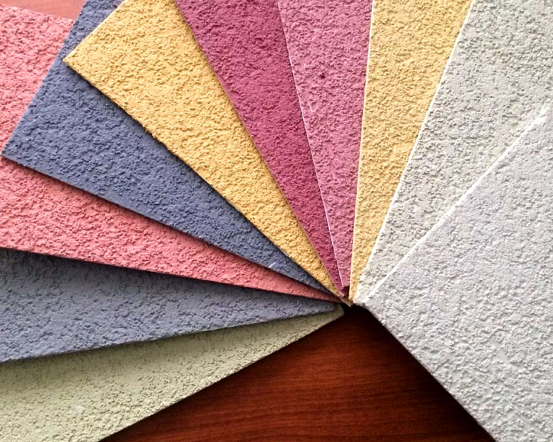 Разнообразие оттенков акрилового покрытия