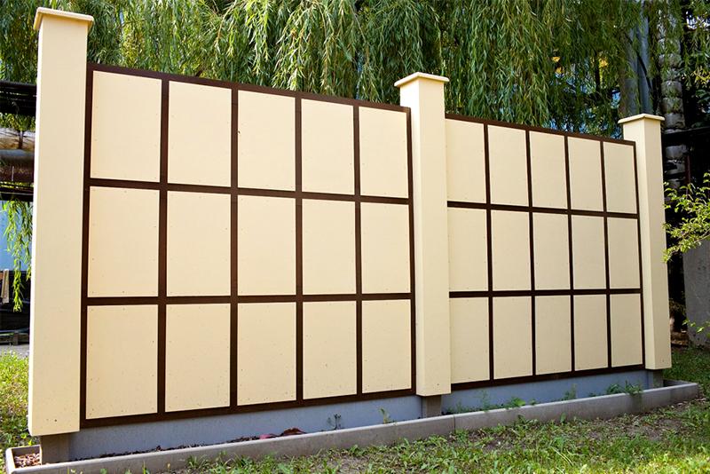 Забор из ЦСП плит