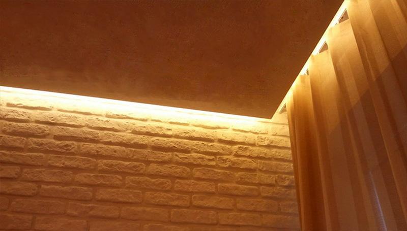 Подсветка при помощи скрытого карниза
