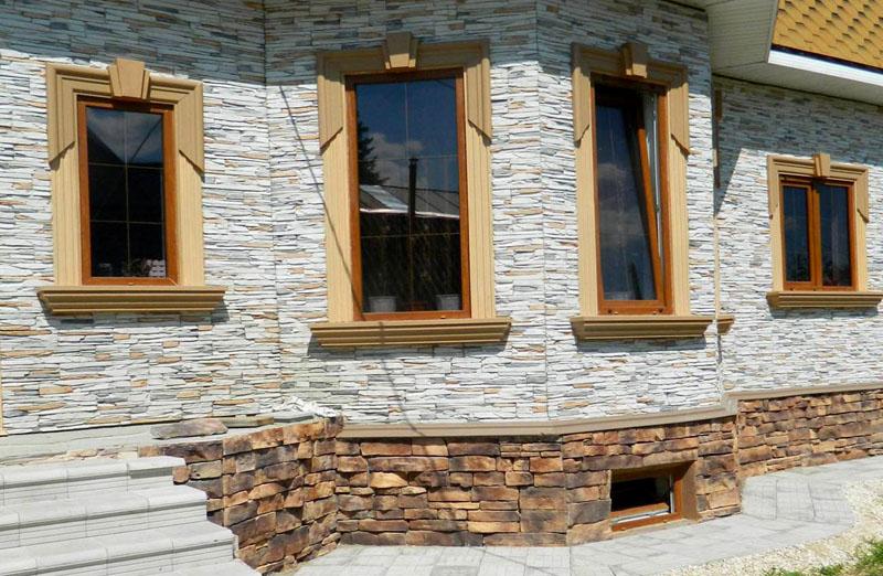 Натуральный камень в облицовке фасада дома