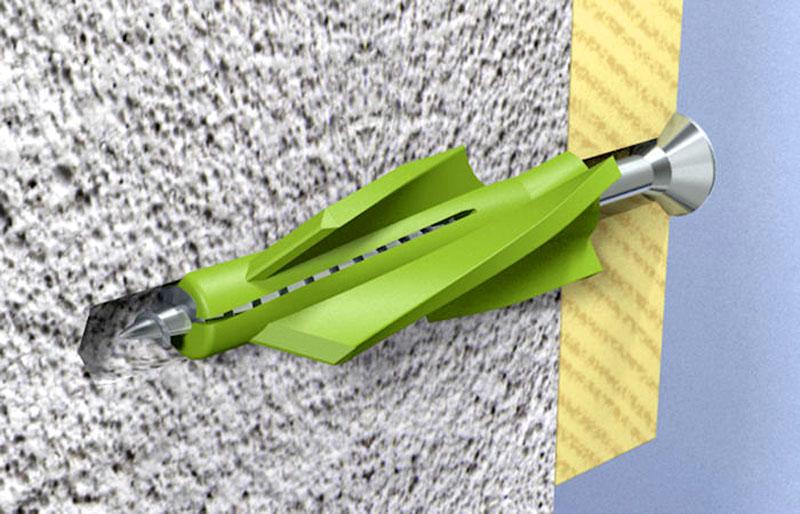 Фиксация элемента в стене из газобетона