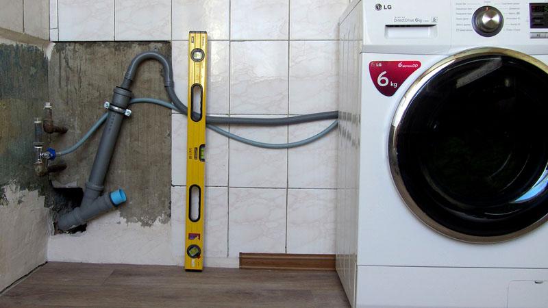 Сливной и питающий шланг стиральной машины