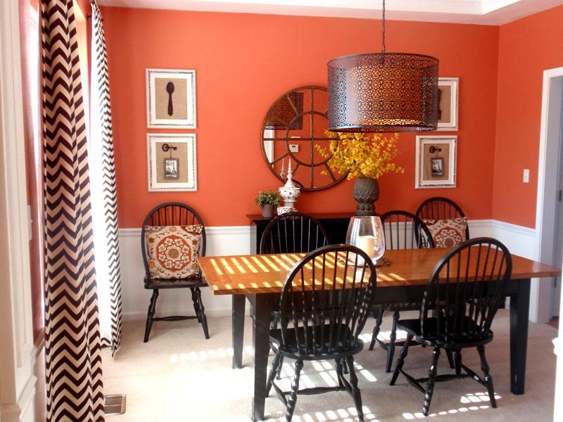 В столовой этот цвет будет способствовать хорошему аппетиту и позитивному настрою
