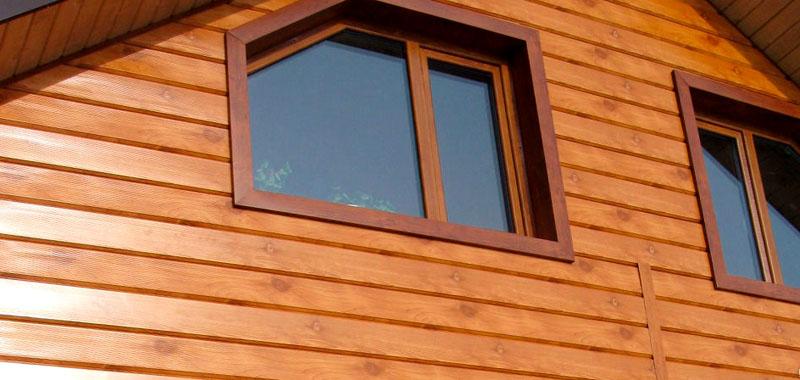 Металлический сайдинг, имитирующий древесину