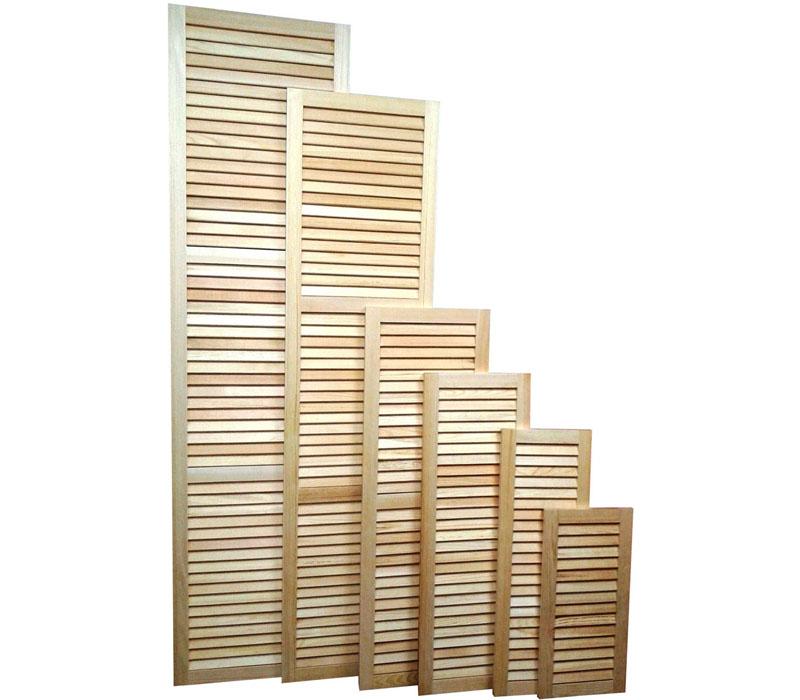 Жалюзийные деревянные створки