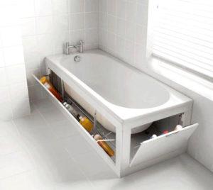 Используйте пространство под ванной