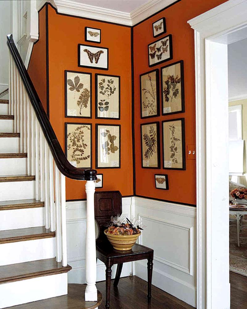 Чёрная окантовка подчеркнёт выбранную расцветку стен