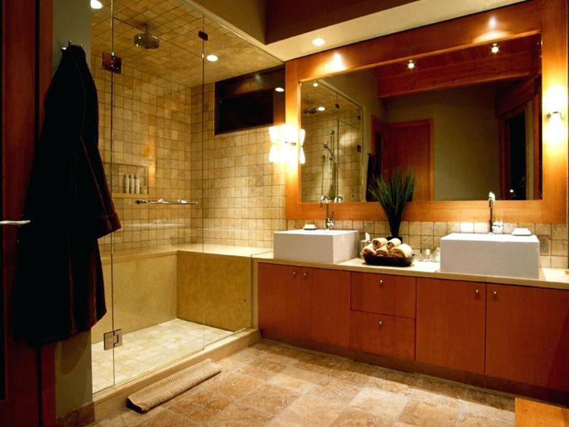 плиткой комнаты разноцветной фото с ванной
