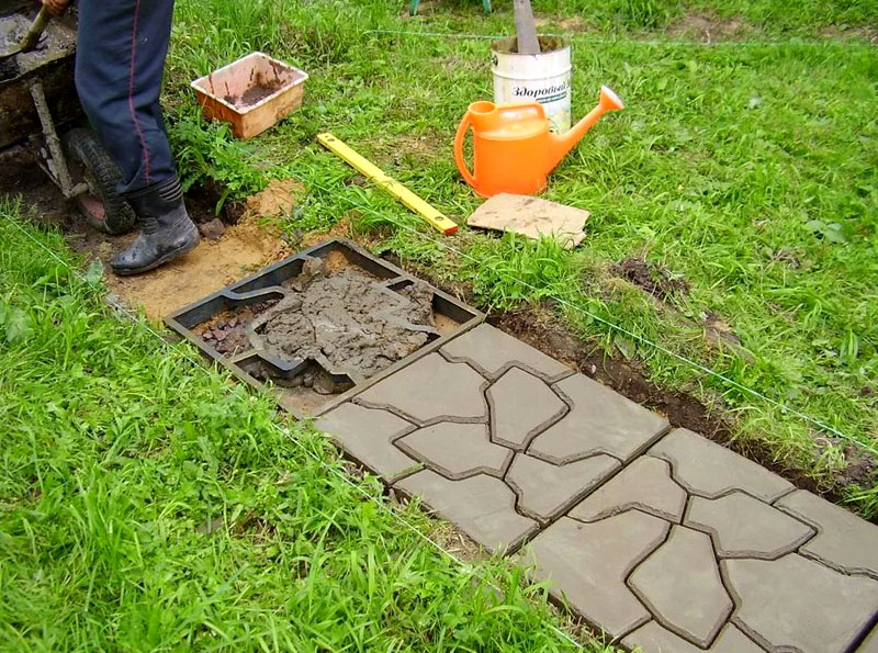 Форма под заливку тротуарной плитки по месту