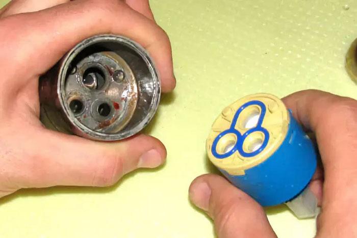 Внутренняя полость шарового смесителя