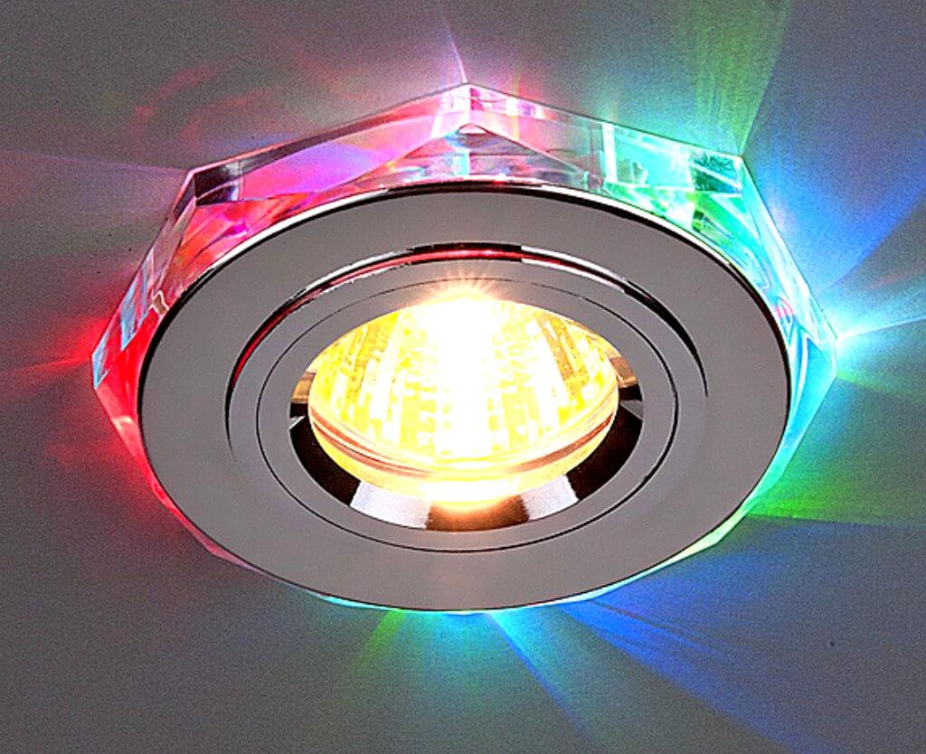 Точечный потолочный светильник может выглядеть и так