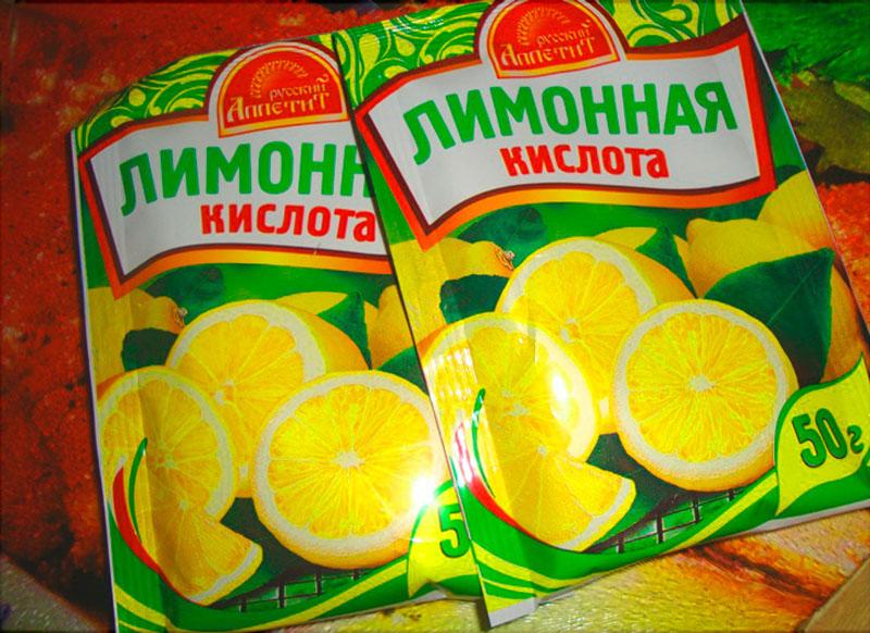 Лимонная кислота – дешёвое и доступное средство
