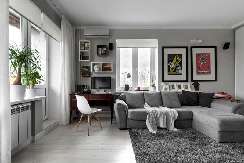 Прощай старый интерьер: 30 фото ремонта однокомнатной квартиры