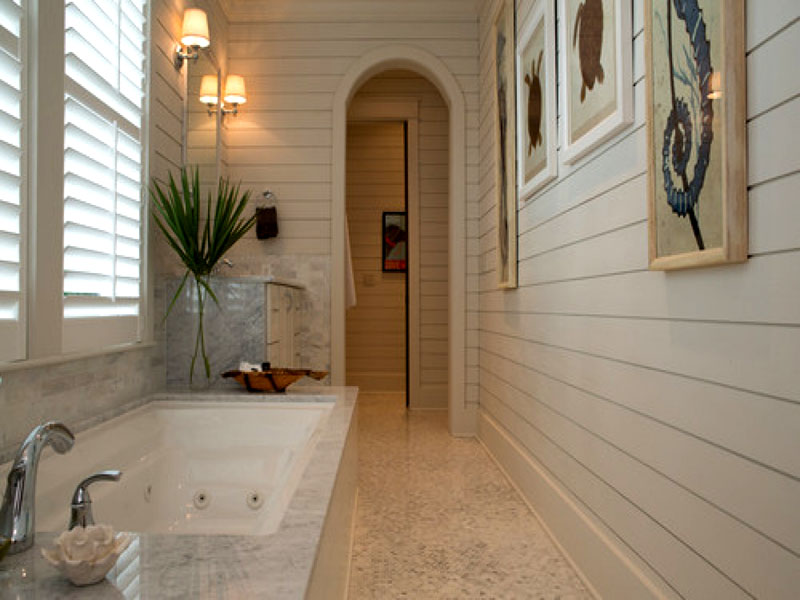 Выбор экономных хозяев: стеновые панели для ванных комнат