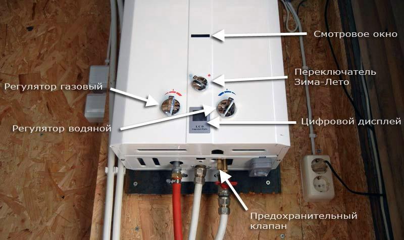 Установка и регулировка водонагревателя