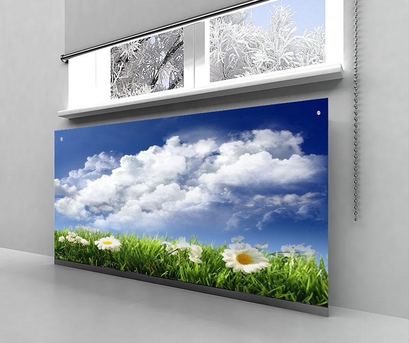 Экраны из стекла можно выполнить в разном оформлении