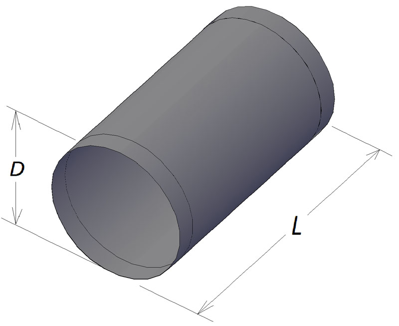 Изделие площади круглого сечения