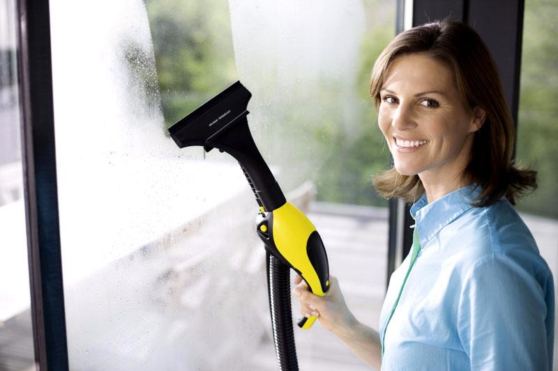 Парогенератором можно мыть окна