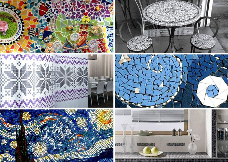 Рисунок из мозаики – маленькое чудо в вашей комнате