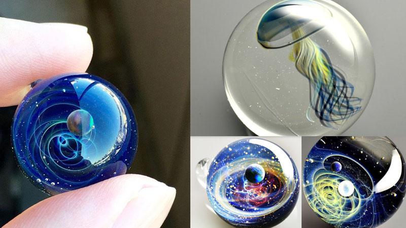 Маленькая Вселенная от Сатиши Томизу из мягкого стекла