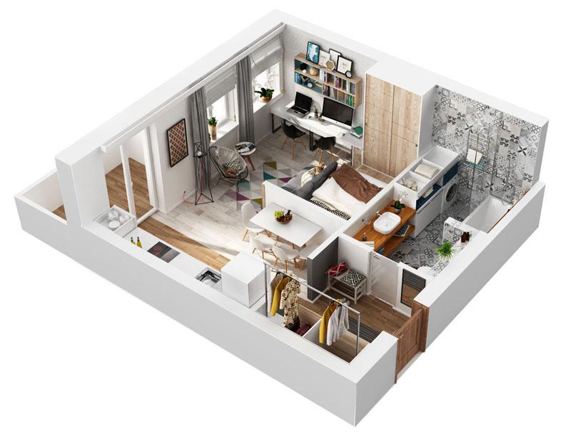 В маленькой квартире важно увеличить «полезную площадь»