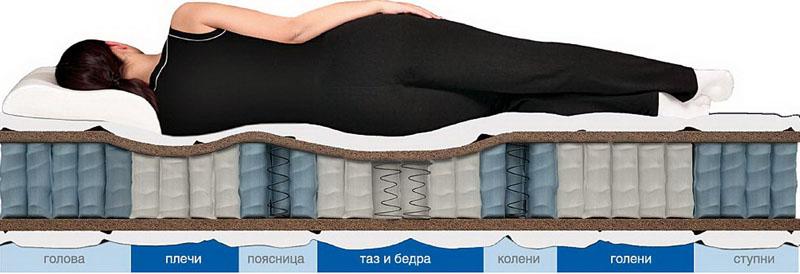Комфорт и удобство во время сна обеспечивает анатомический эффект постели