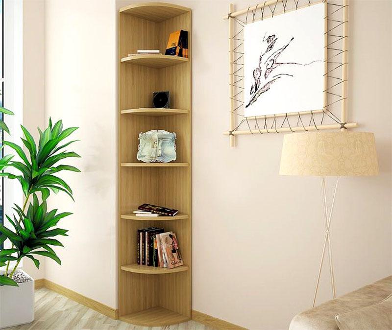 Угловая мебельная книжная секция
