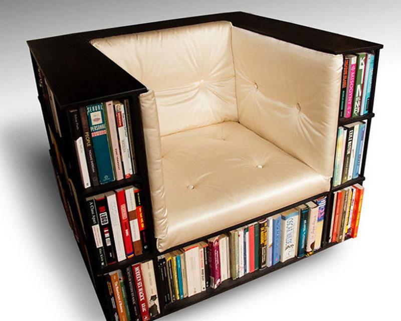 Кресло-полка для библиотеки