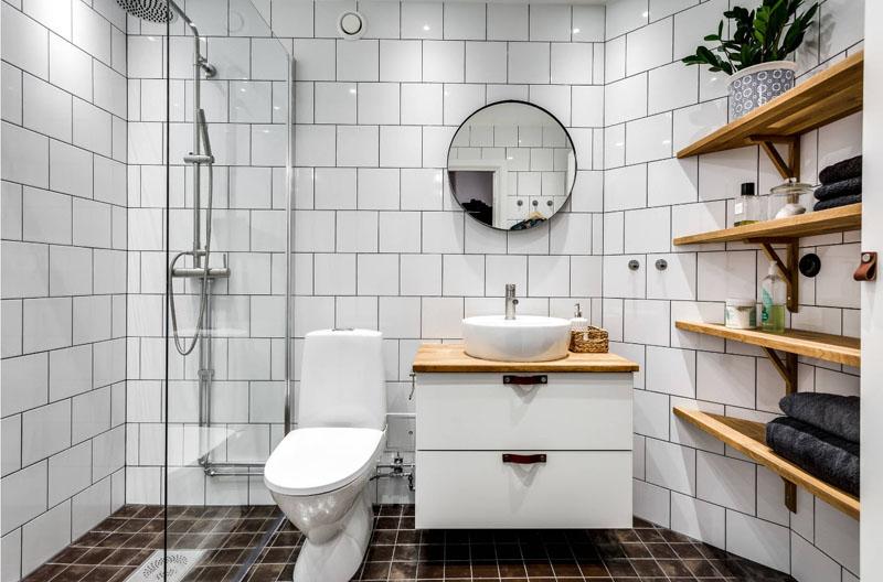 Растение в ванной станет приятным ярким акцентом