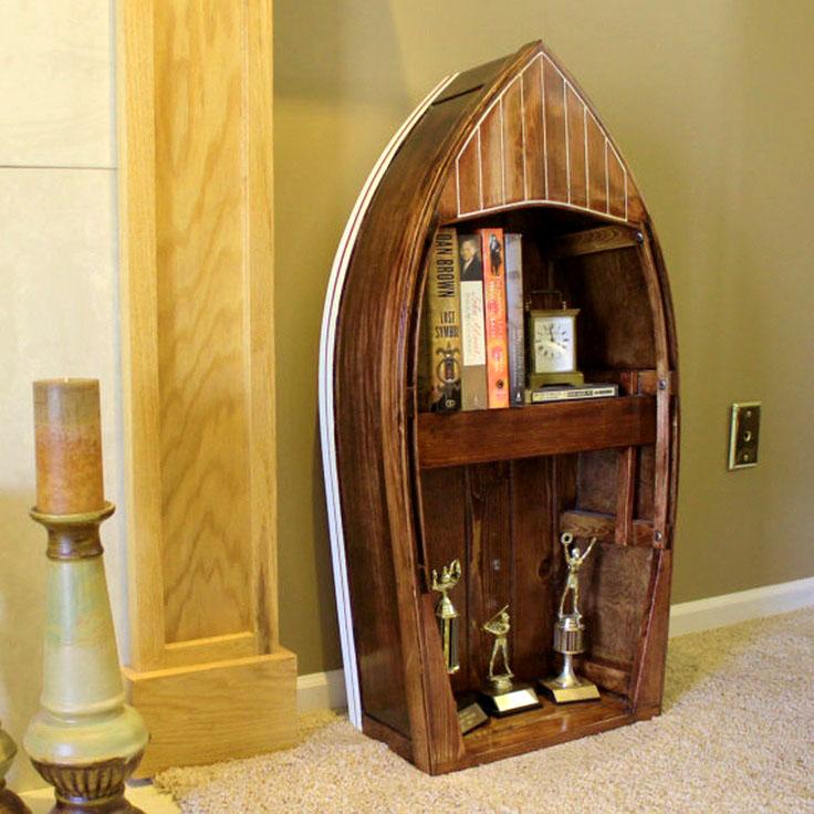 Книжный шкаф-лодка