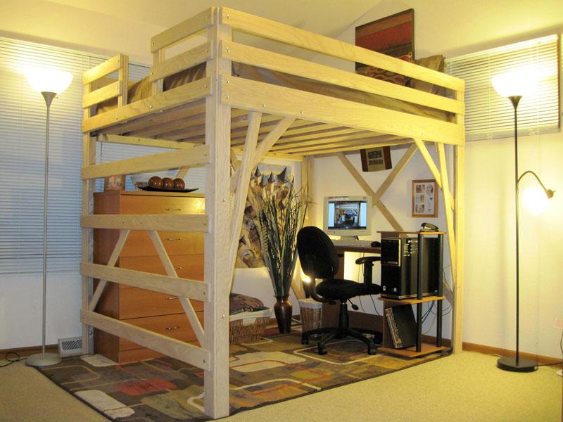 Кровать-чердак позволяет организовать две функциональные зоны на одной площади