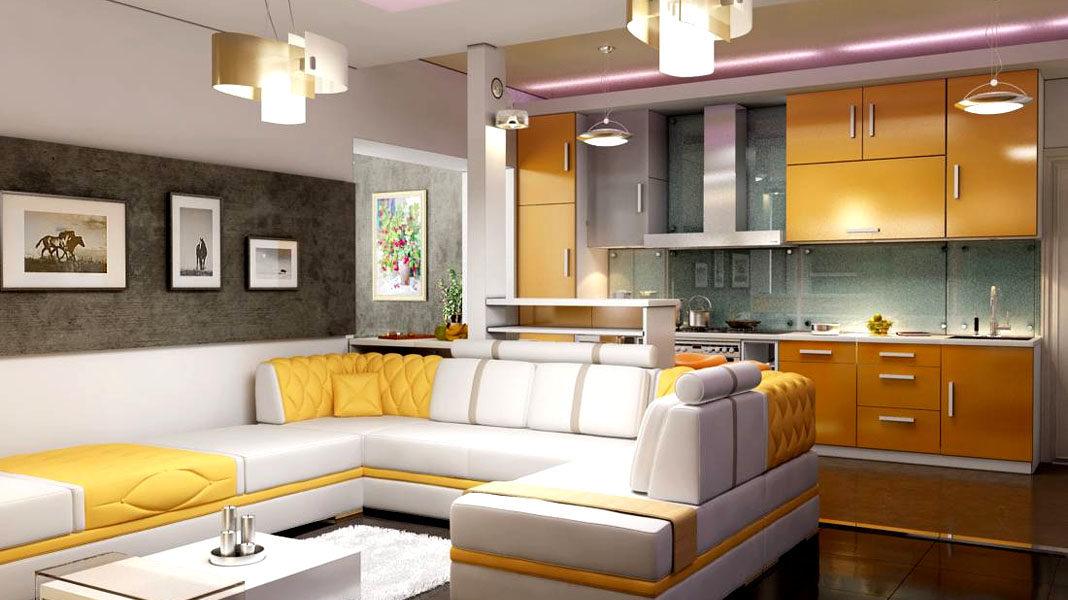 Кухня-гостиная: дизайн, фото
