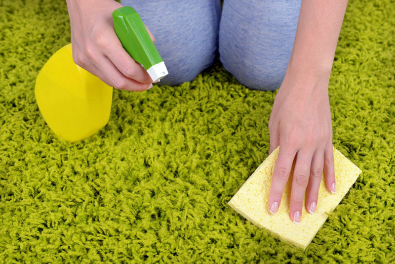 Для очистки паласа с длинным ворсом следует воспользоваться губкой