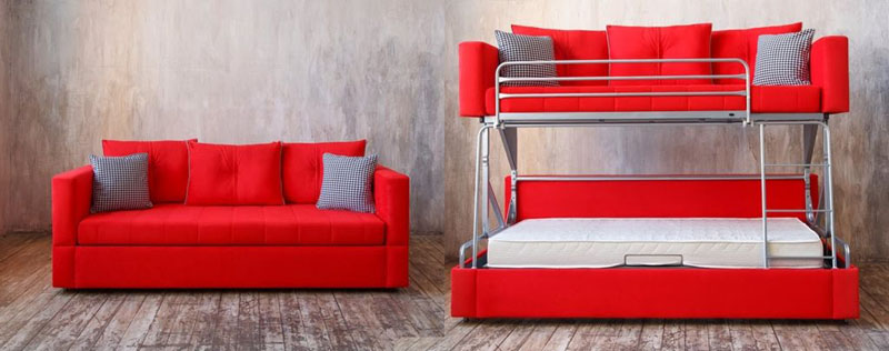 По внешнему виду невозможно отличить обычный диван от трансформера