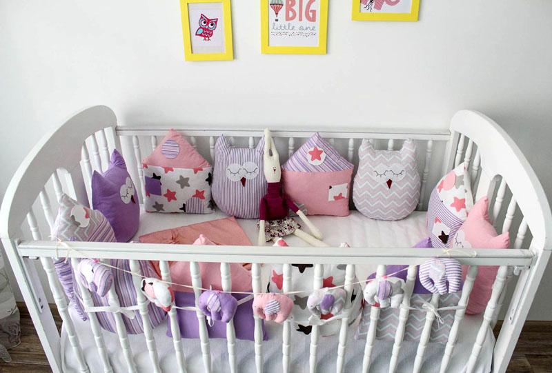 Защиту из нескольких подушек можно размещать в произвольном порядке