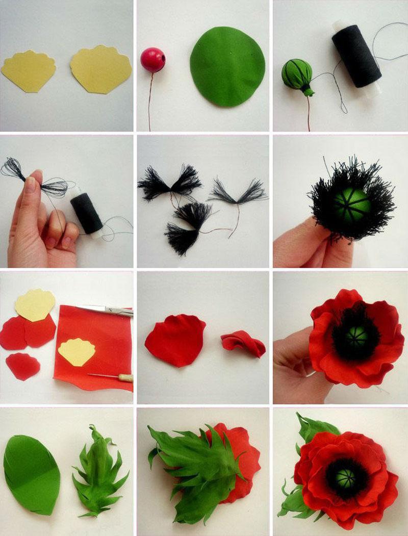 ---25 Мастер класс цветы из фоамирана