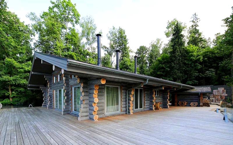 Проект дома в русском стиле из сруба