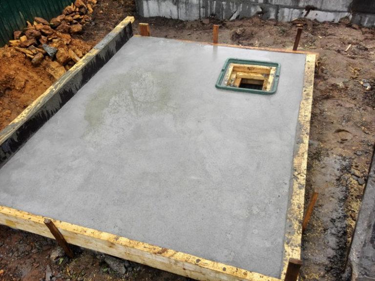 фундамент монолитная плита с погребом