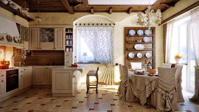 На кухне практично использовать плитку