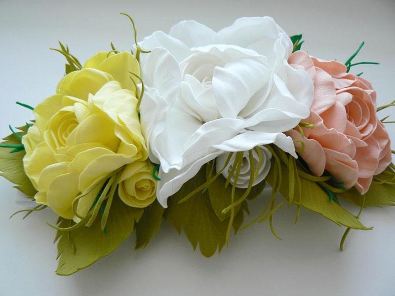 ---41 Цветы из фоамирана своими руками 75 фото для начинающих