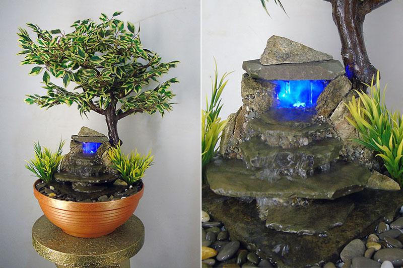 Декоративный фонтан с бонсаем− комбо-увлажнение