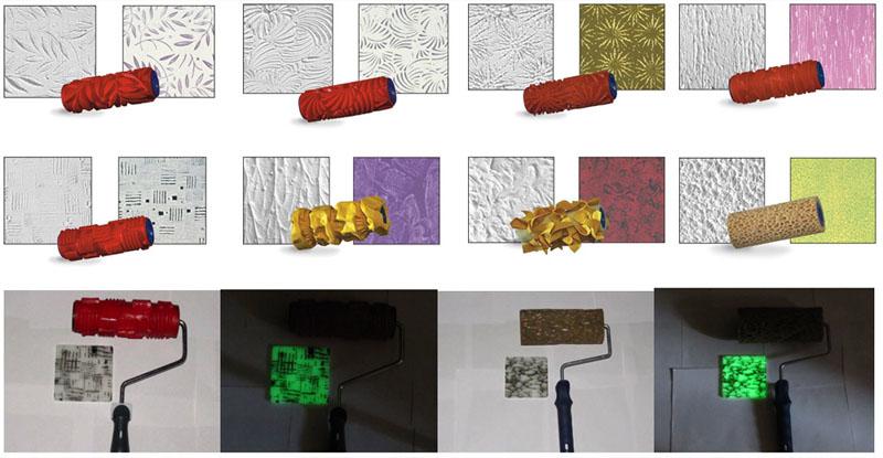 Валик для декоративной штукатурки способен создать фактурный рисунок на стене