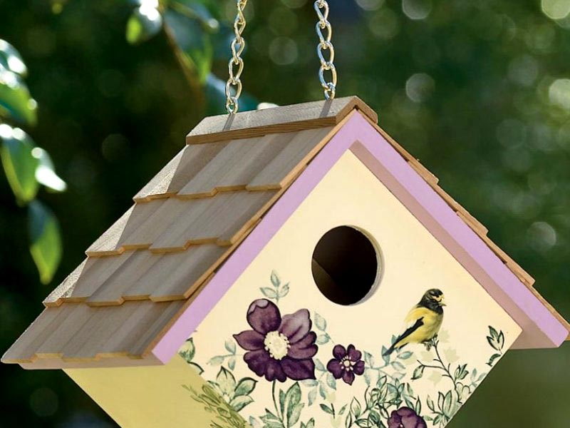 Бункерный домик для птичек и шикарное украшение для сада